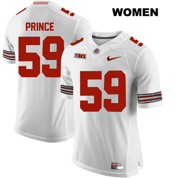 Isaiah Prince Womens Stitched White Nike Ohio State Buckeyes Authentic no. 59 College Football Jersey - Isaiah Prince Jersey