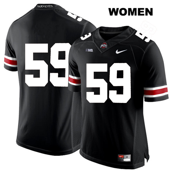 Isaiah Prince White Font Stitched Womens Nike Black Ohio State Buckeyes Authentic no. 59 College Football Jersey - Without Name - Isaiah Prince Jersey