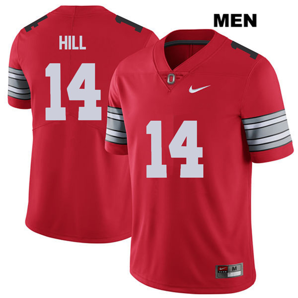 2018 Spring Game Isaiah Pryor Mens Red Ohio State Buckeyes Authentic Stitched Nike no. 14 College Football Jersey - Isaiah Pryor Jersey