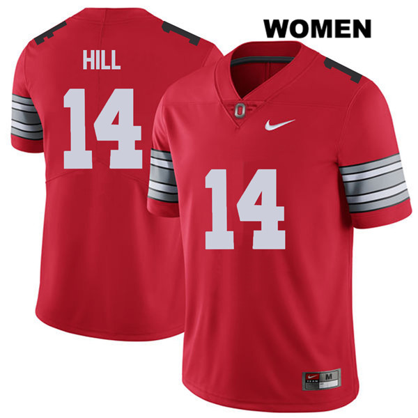 Isaiah Pryor Stitched Womens Red Nike Ohio State Buckeyes 2018 Spring Game Authentic no. 14 College Football Jersey - Isaiah Pryor Jersey