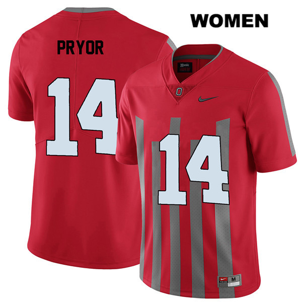 Isaiah Pryor Womens Red Nike Stitched Ohio State Buckeyes Elite Authentic no. 14 College Football Jersey - Isaiah Pryor Jersey