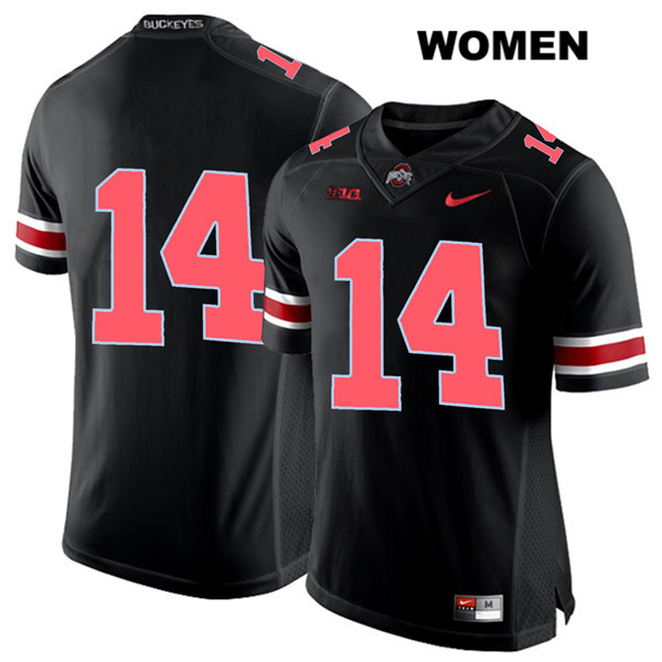 Isaiah Pryor Nike Womens Black Stitched Ohio State Buckeyes Authentic Red Font no. 14 College Football Jersey - Without Name - Isaiah Pryor Jersey