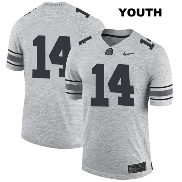 Isaiah Pryor Stitched Youth Gray Ohio State Buckeyes Nike Authentic no. 14 College Football Jersey - Without Name - Isaiah Pryor Jersey