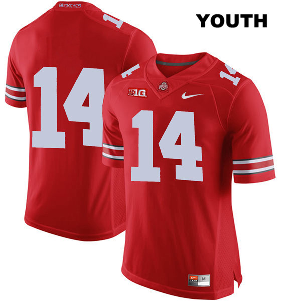 Isaiah Pryor Nike Youth Stitched Red Ohio State Buckeyes Authentic no. 14 College Football Jersey - Without Name - Isaiah Pryor Jersey