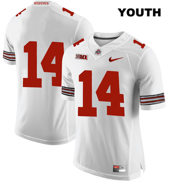 Isaiah Pryor Nike Youth White Ohio State Buckeyes Stitched Authentic no. 14 College Football Jersey - Without Name - Isaiah Pryor Jersey