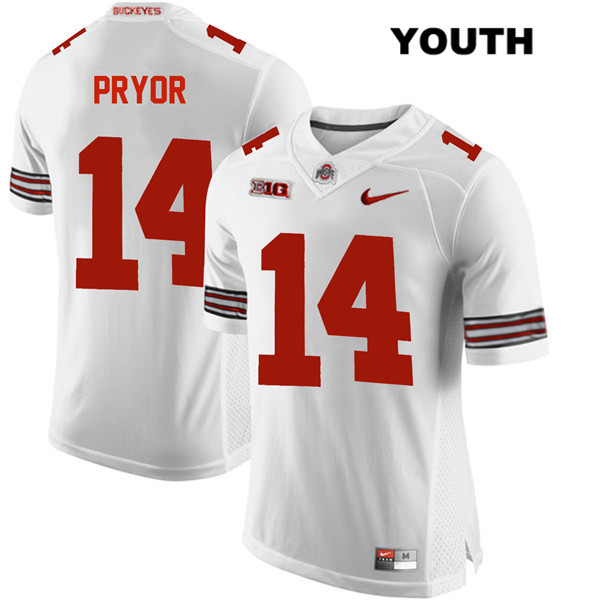 Isaiah Pryor Youth Nike White Ohio State Buckeyes Authentic Stitched no. 14 College Football Jersey - Isaiah Pryor Jersey