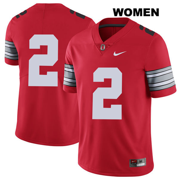 J.K. Dobbins Womens Red Stitched Ohio State Buckeyes 2018 Spring Game Authentic Nike no. 2 College Football Jersey - Without Name - J.K. Dobbins Jersey