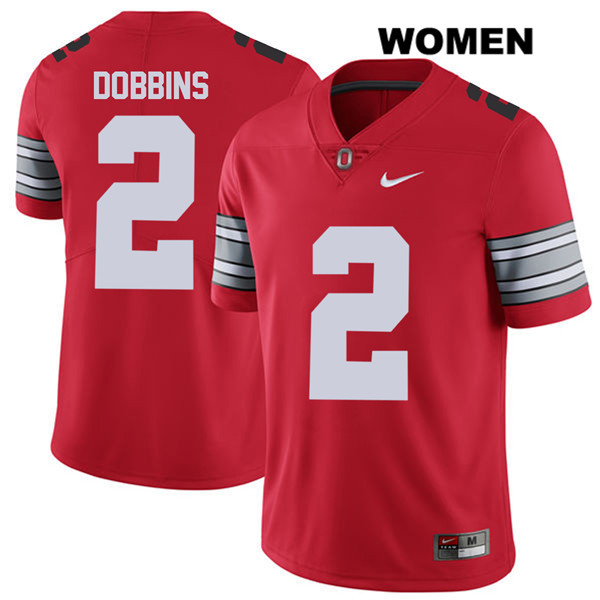 J.K. Dobbins 2018 Spring Game Womens Red Stitched Nike Ohio State Buckeyes  Authentic no. 2 College Football Jersey 0c14a959d