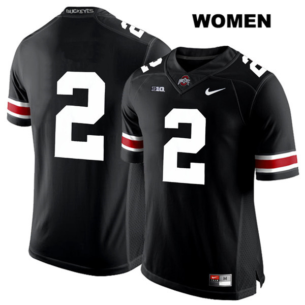 J.K. Dobbins Stitched Womens Black Nike Ohio State Buckeyes Authentic White Font no. 2 College Football Jersey - Without Name - J.K. Dobbins Jersey