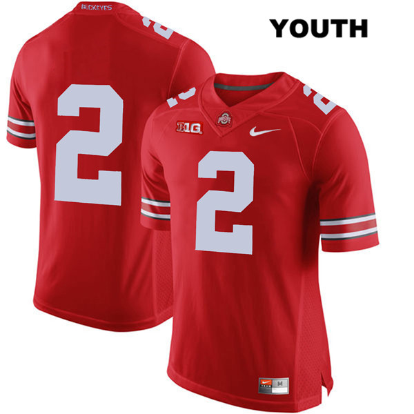J.K. Dobbins Youth Nike Red Ohio State Buckeyes Stitched Authentic no. 2 College Football Jersey - Without Name - J.K. Dobbins Jersey