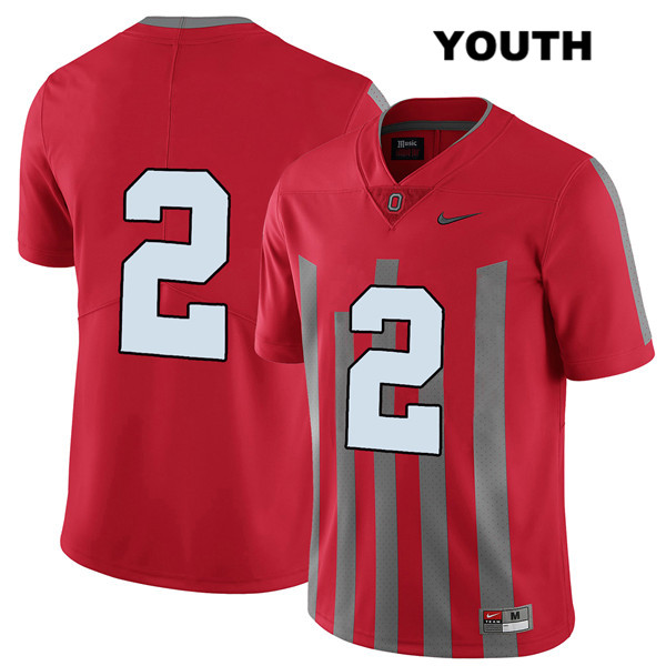 J.K. Dobbins Stitched Youth Nike Red Ohio State Buckeyes Authentic Elite no. 2 College Football Jersey - Without Name - J.K. Dobbins Jersey