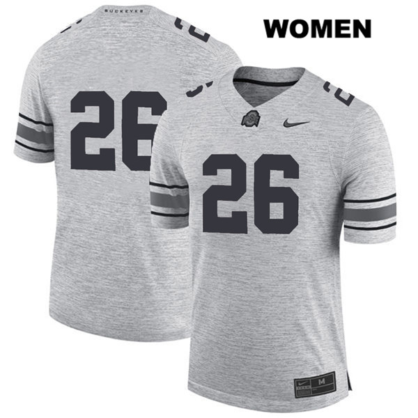 Jaelen Gill Womens Stitched Gray Ohio State Buckeyes Nike Authentic no. 26 College Football Jersey - Without Name - Jaelen Gill Jersey