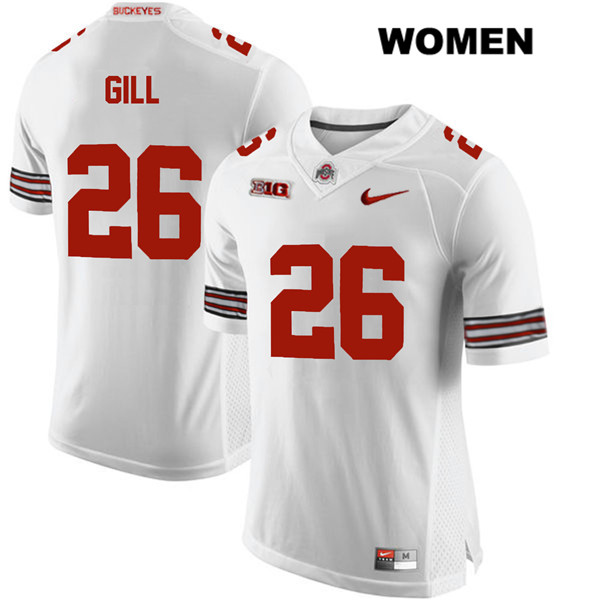 Jaelen Gill Womens White Nike Stitched Ohio State Buckeyes Authentic no. 26 College Football Jersey - Jaelen Gill Jersey