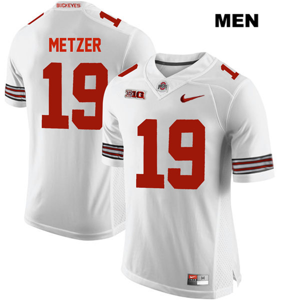 Jake Metzer Mens White Ohio State Buckeyes Authentic Nike Stitched no. 19 College Football Jersey - Jake Metzer Jersey