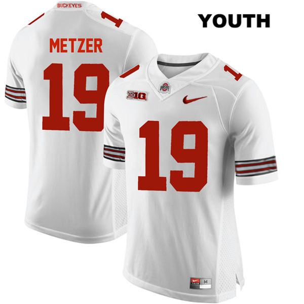 Jake Metzer Nike Youth Stitched White Ohio State Buckeyes Authentic no. 19 College Football Jersey - Jake Metzer Jersey