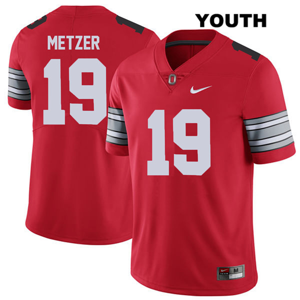 2018 Spring Game Jake Metzer Stitched Youth Red Nike Ohio State Buckeyes Authentic no. 19 College Football Jersey - Jake Metzer Jersey