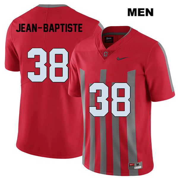 Javontae Jean-Baptiste Stitched Mens Nike Red Ohio State Buckeyes Elite Authentic no. 38 College Football Jersey - Javontae Jean-Baptiste Jersey