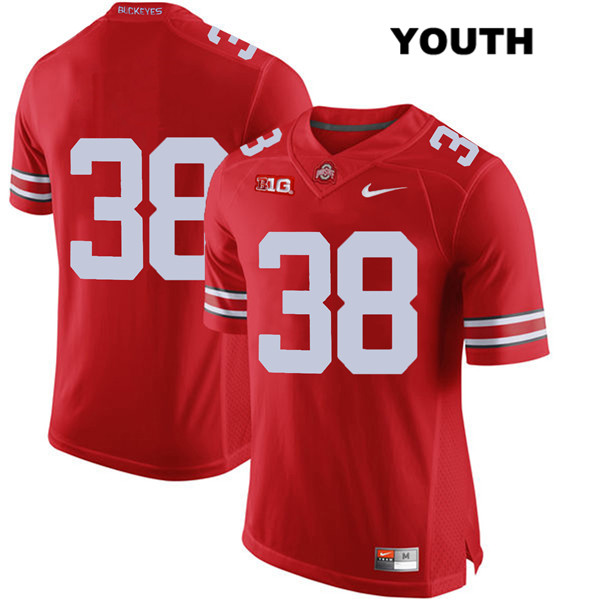 Javontae Jean-Baptiste Youth Red Nike Ohio State Buckeyes Authentic Stitched no. 38 College Football Jersey - Without Name - Javontae Jean-Baptiste Jersey