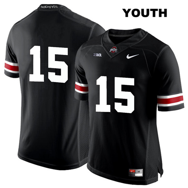 Jaylen Harris Nike Youth Black Stitched Ohio State Buckeyes Authentic White Font no. 15 College Football Jersey - Without Name - Jaylen Harris Jersey