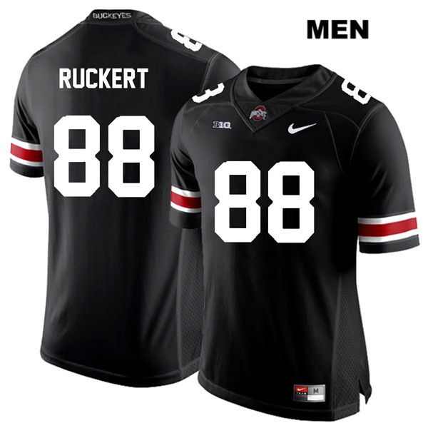 Jeremy Ruckert Stitched Mens Black Ohio State Buckeyes Nike Authentic White Font no. 88 College Football Jersey - Jeremy Ruckert Jersey