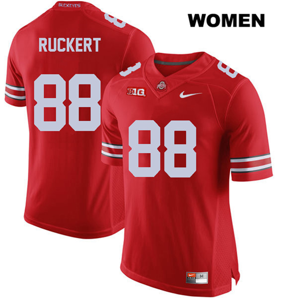Jeremy Ruckert Womens Red Stitched Ohio State Buckeyes Authentic Nike no. 88 College Football Jersey - Jeremy Ruckert Jersey
