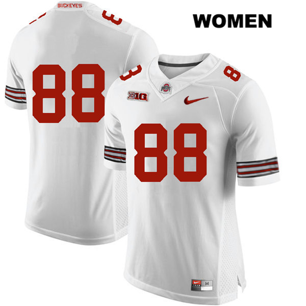 Jeremy Ruckert Womens White Nike Ohio State Buckeyes Authentic Stitched no. 88 College Football Jersey - Without Name - Jeremy Ruckert Jersey