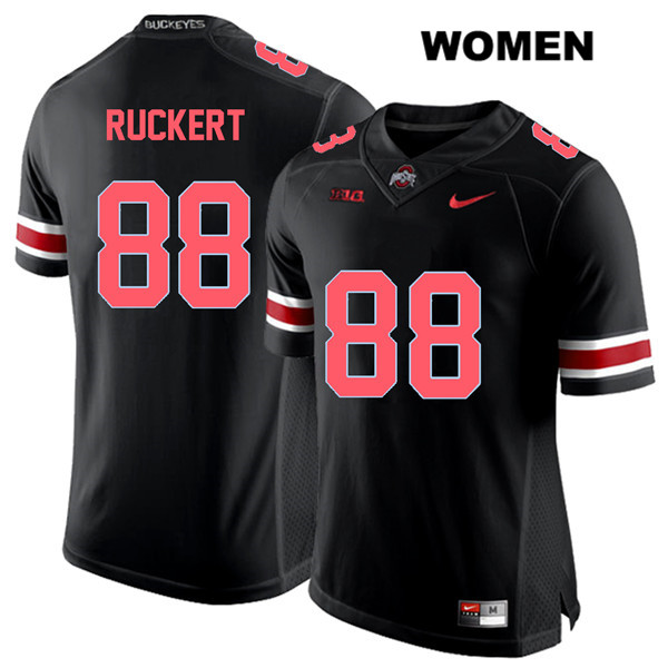 Jeremy Ruckert Womens Stitched Nike Black Ohio State Buckeyes Authentic Red Font no. 88 College Football Jersey - Jeremy Ruckert Jersey