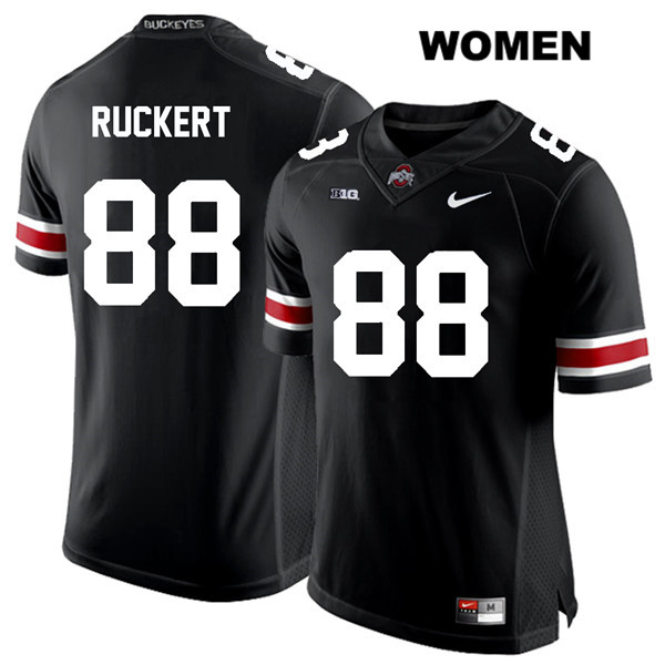 Jeremy Ruckert Womens Black Nike Stitched Ohio State Buckeyes White Font Authentic no. 88 College Football Jersey - Jeremy Ruckert Jersey
