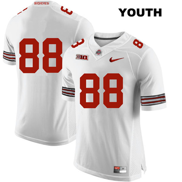 Jeremy Ruckert Nike Youth White Ohio State Buckeyes Stitched Authentic no. 88 College Football Jersey - Without Name - Jeremy Ruckert Jersey
