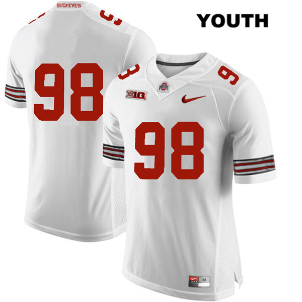 Jerron Cage Nike Youth White Ohio State Buckeyes Stitched Authentic no. 98 College Football Jersey - Without Name - Jerron Cage Jersey
