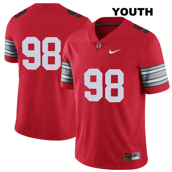 Jerron Cage Nike Youth Red Stitched Ohio State Buckeyes Authentic 2018 Spring Game no. 98 College Football Jersey - Without Name - Jerron Cage Jersey