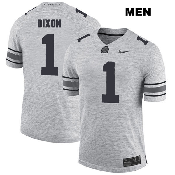 Johnnie Dixon Mens Gray Ohio State Buckeyes Nike Authentic Stitched no. 1 College Football Jersey - Johnnie Dixon Jersey
