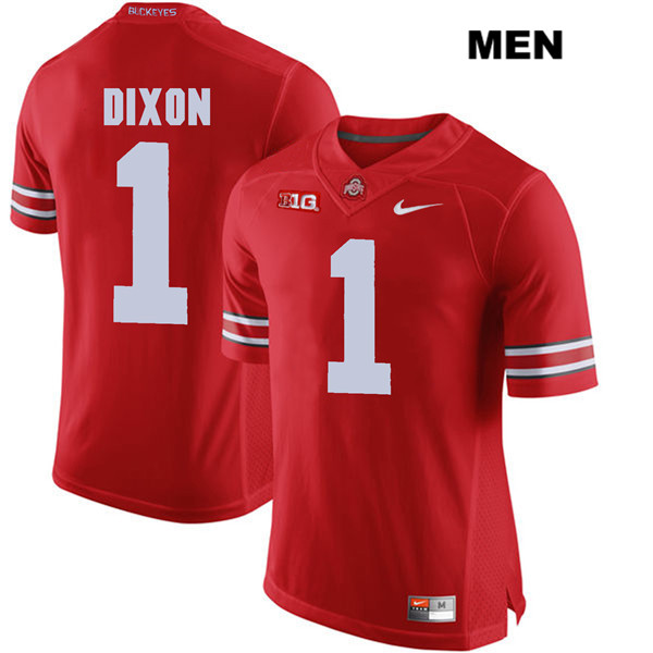 Johnnie Dixon Mens Red Stitched Ohio State Buckeyes Nike Authentic no. 1 College Football Jersey - Johnnie Dixon Jersey