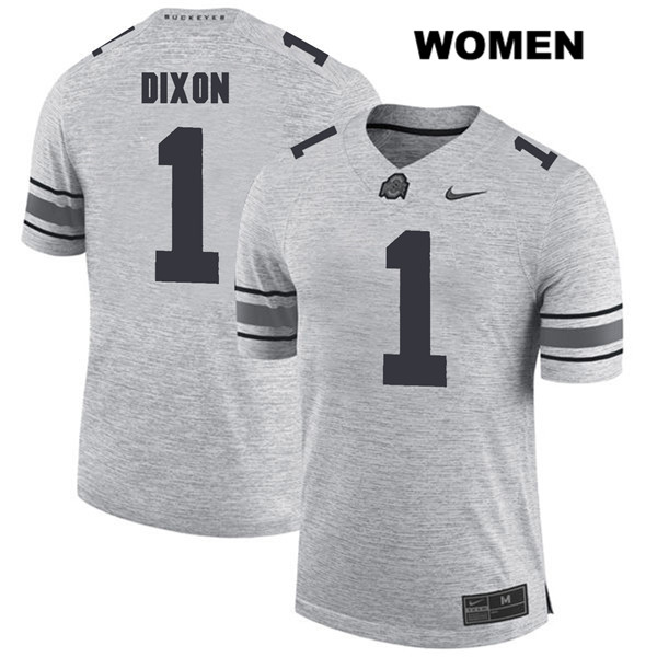 Johnnie Dixon Nike Womens Gray Stitched Ohio State Buckeyes Authentic no. 1 College Football Jersey - Johnnie Dixon Jersey
