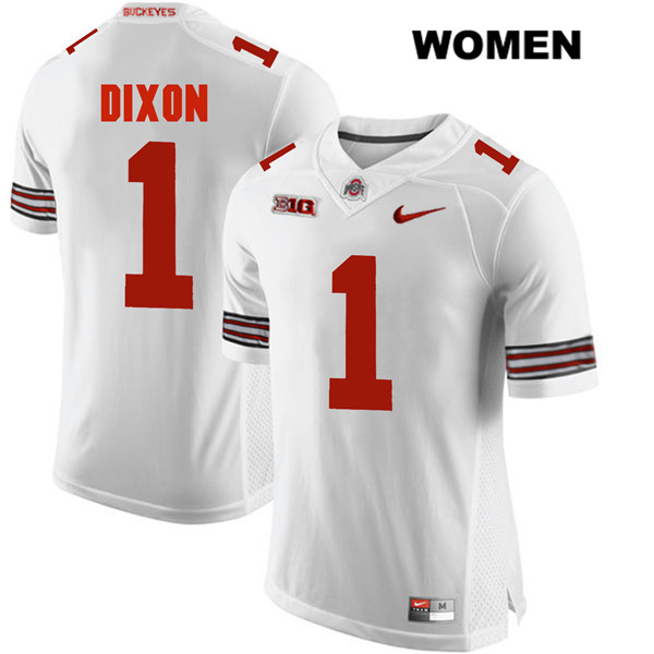 Johnnie Dixon Womens Stitched White Nike Ohio State Buckeyes Authentic no. 1 College Football Jersey - Johnnie Dixon Jersey