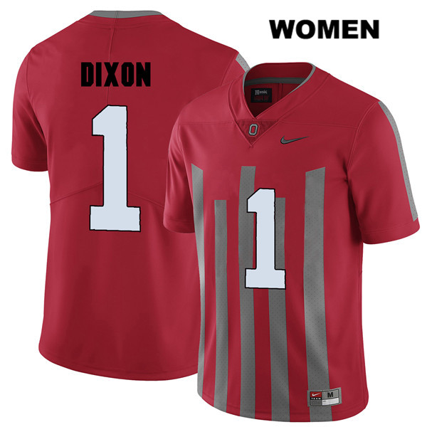 Johnnie Dixon Womens Nike Red Ohio State Buckeyes Stitched Authentic Elite no. 1 College Football Jersey - Johnnie Dixon Jersey