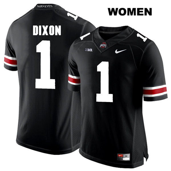 Johnnie Dixon Nike Womens White Font Black Ohio State Buckeyes Authentic Stitched no. 1 College Football Jersey - Johnnie Dixon Jersey