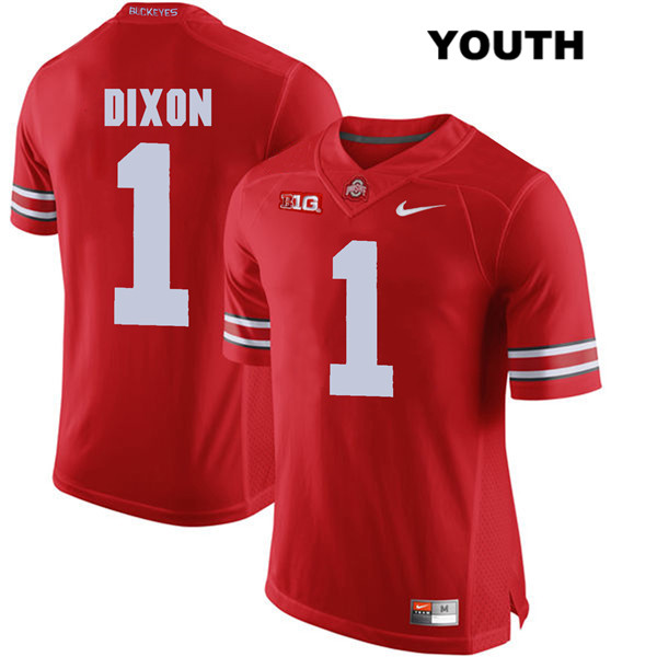 Johnnie Dixon Youth Nike Red Ohio State Buckeyes Authentic Stitched no. 1 College Football Jersey - Johnnie Dixon Jersey
