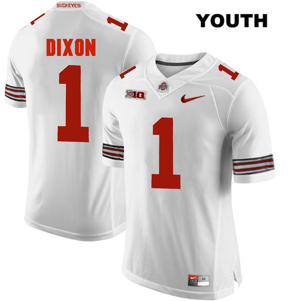 Johnnie Dixon Youth Nike White Ohio State Buckeyes Stitched Authentic no. 1 College Football Jersey - Johnnie Dixon Jersey