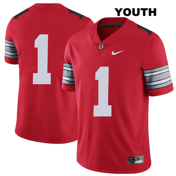 Johnnie Dixon 2018 Spring Game Youth Stitched Nike Red Ohio State Buckeyes Authentic no. 1 College Football Jersey - Without Name - Johnnie Dixon Jersey
