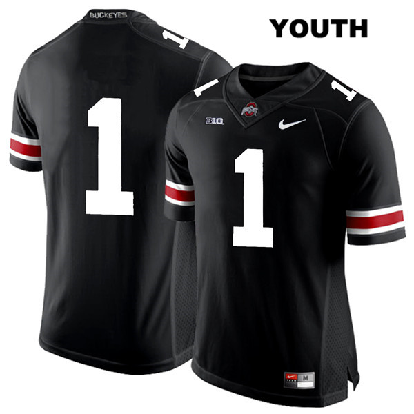 Johnnie Dixon Youth Black White Font Nike Ohio State Buckeyes Authentic Stitched no. 1 College Football Jersey - Without Name - Johnnie Dixon Jersey