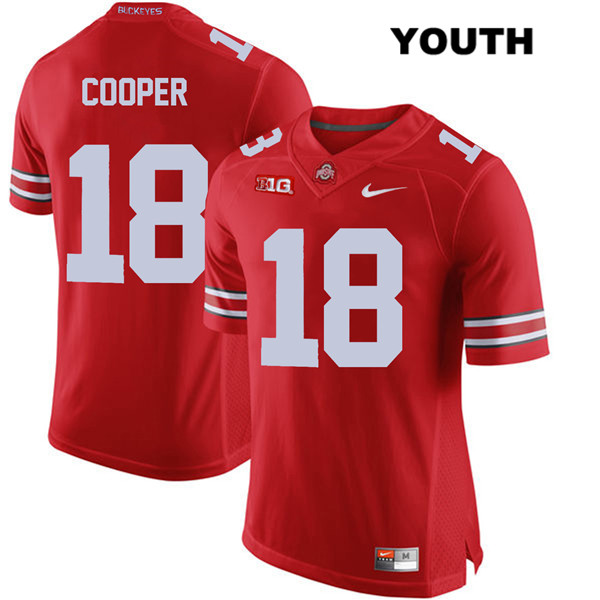 Jonathon Cooper Nike Youth Red Stitched Ohio State Buckeyes Authentic no. 18 College Football Jersey - Jonathon Cooper Jersey