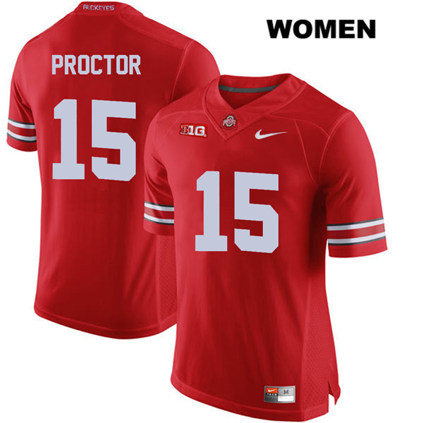 Josh Proctor Womens Red Nike Ohio State Buckeyes Stitched Authentic no. 15 College Football Jersey - Josh Proctor Jersey