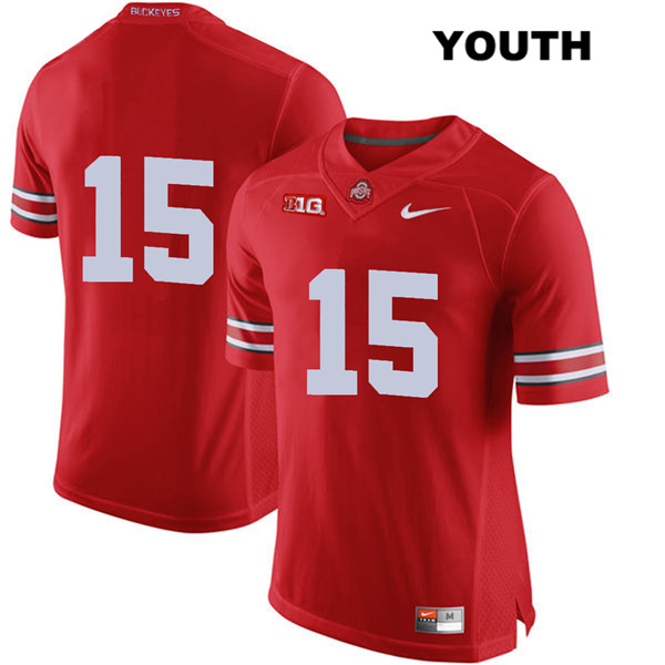Josh Proctor Nike Youth Red Ohio State Buckeyes Authentic Stitched no. 15 College Football Jersey - Without Name - Josh Proctor Jersey