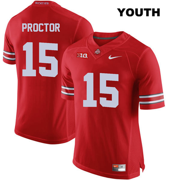 Josh Proctor Youth Nike Red Stitched Ohio State Buckeyes Authentic no. 15 College Football Jersey - Josh Proctor Jersey