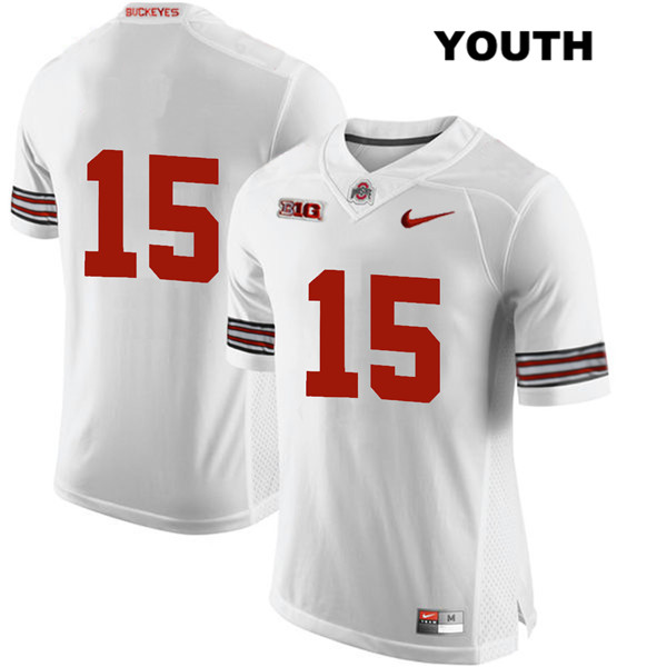 Josh Proctor Youth Stitched White Nike Ohio State Buckeyes Authentic no. 15 College Football Jersey - Without Name - Josh Proctor Jersey