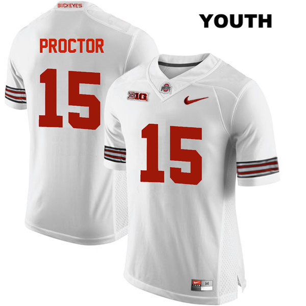 Josh Proctor Youth White Ohio State Buckeyes Stitched Authentic Nike no. 15 College Football Jersey - Josh Proctor Jersey