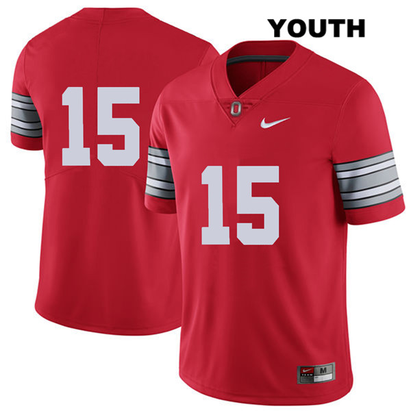 Josh Proctor Nike Stitched Youth Red Ohio State Buckeyes Authentic 2018 Spring Game no. 15 College Football Jersey - Without Name - Josh Proctor Jersey