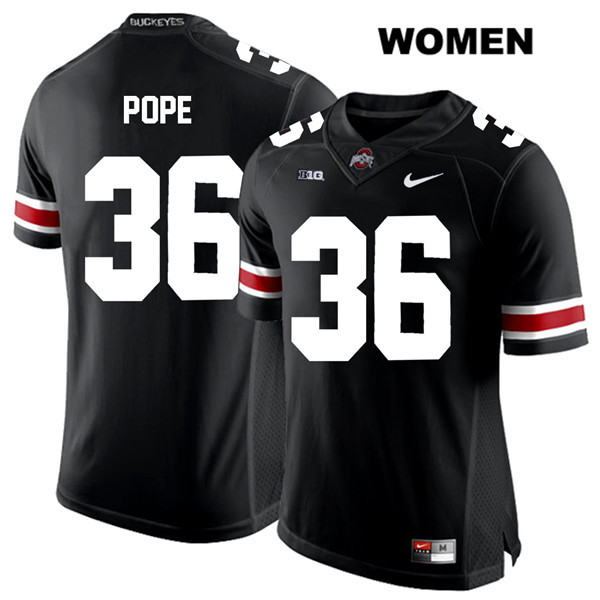 K'Vaughan Pope Nike White Font Womens Black Ohio State Buckeyes Authentic Stitched no. 36 College Football Jersey - K'Vaughan Pope Jersey
