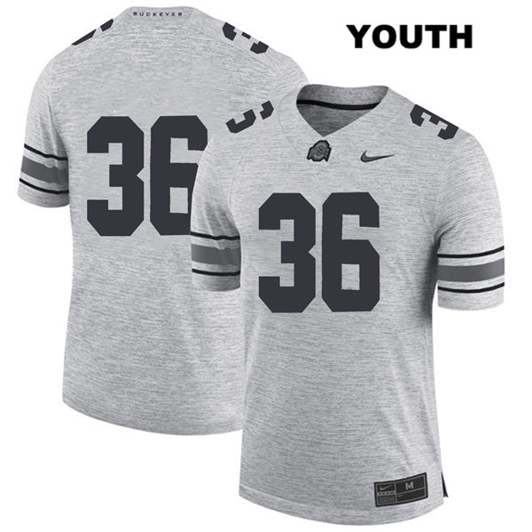K'Vaughan Pope Youth Gray Ohio State Buckeyes Nike Authentic Stitched no. 36 College Football Jersey - Without Name - K'Vaughan Pope Jersey
